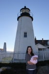 Nicole and Madeline at Pemaquid Point Light