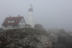 Portland Head Light in the fog